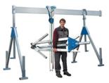 DOSTAWA GRATIS! 03046514 Wciągarka bramowa aluminiowa z wciągnikiem (szerokość całkowita regulowana: 7100mm, wysokość całkowita regulowana: 2700–4400mm, udźwig suwnicy/wciągnika: 1000/500kg kg)