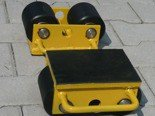 DOSTAWA GRATIS! 12235588 Wózek stały 2 rolkowy, rolki: 2x stal (nośność: 3 T)