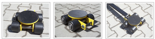 DOSTAWA GRATIS! 12235600 Wózek skrętny 4 rolkowy, rolki: 4x kompozyt (nośność: 4 T)