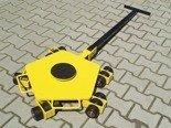 DOSTAWA GRATIS! 12258871 Wózek rotacyjny z płytą obrotową, rolki: 15x nylon (nośność: 5 T)