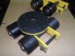 DOSTAWA GRATIS! 12267424 Wózek skrętny z otworem fi 21 w płycie nośnej, 4 rolkowy, rolki: 4x stal (nośność: 4 T)