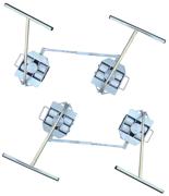 DOSTAWA GRATIS! 13360195 Zestaw transportowy, rolki poliamidowe,  4 skrętne dyszle (nośność: 10 T)
