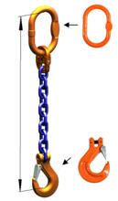 DOSTAWA GRATIS! 33948213 Zawiesie łańcuchowe jednocięgnowe klasy 10 miproSling HCS 19 (długość łańcucha: 1m, udźwig: 19 T, średnica łańcucha: 22 mm, wymiary ogniwa: 260x140 mm)