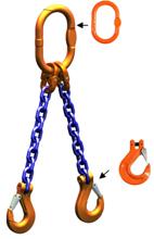 DOSTAWA GRATIS! 33948216 Zawiesie łańcuchowe dwucięgnowe klasy 10 miproSling HCS 20,0/14,0 (długość łańcucha: 1m, udźwig: 14-20 T, średnica łańcucha: 19 mm, wymiary ogniwa: 260x140 mm)