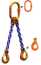 DOSTAWA GRATIS! 33948218 Zawiesie łańcuchowe dwucięgnowe klasy 10 miproSling LCS 14,0/10,0 (długość łańcucha: 1m, udźwig: 10-14 T, średnica łańcucha: 16 mm, wymiary ogniwa: 200x110 mm)