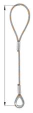 DOSTAWA GRATIS! 33948335 Zawiesie linowe jednocięgnowe zaciskane tulejkami cylindrycznymi miproSling Typu F1k (udźwig: 33,5 T, wymiary pętli: 900/450 mm, średnica liny: 56 mm, długość liny: 1 m)