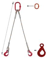 DOSTAWA GRATIS! 33948383 Zawiesie linowe dwucięgnowe miproSling LE 15,0/11,0 (długość liny: 1m, udźwig: 11-15 T, średnica liny: 32 mm, wymiary ogniwa: 275x150 mm)