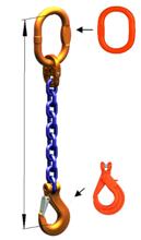 DOSTAWA GRATIS! 33971834 Zawiesie łańcuchowe jednocięgnowe klasy 10 miproSling KLHW 26,5 (długość łańcucha: 1m, udźwig: 26,5 T, średnica łańcucha: 26 mm, wymiary ogniwa: 340x180 mm)