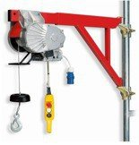 DOSTAWA GRATIS! 55547203 Wciągarka budowlana linowa elektryczna + zdalne sterowanie z niskim napięciem (udźwig: 200 kg, długość liny: 25m)