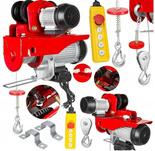 DOSTAWA GRATIS! 63900 Wciągarka linowa elektryczna z wózkiem suwnicowym 230V (udźwig: 445/990kg)