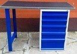 DOSTAWA GRATIS! 77156940 Stół warsztatowy, 6 szuflad (wymiary: 1500x600x1030 mm)