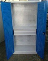 DOSTAWA GRATIS! 77157233 Szafa narzędziowa, 2 szuflady, 2 regulowane półki (wymiary: 1800x900x500 mm)