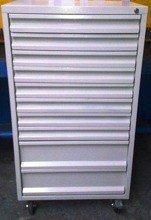 DOSTAWA GRATIS! 77157352 Wózek narzędziowy, 10 szuflad (wymiary: 1250x600x600 mm)