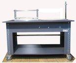 DOSTAWA GRATIS! 91073680 Stół do pakowania z kołem obrotowym na kółkach - nakładka blacha ocynkowana (blat: 150x78 cm, wys: 78 cm)