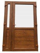 Drzwi zewnętrzne sklepowe (kolor: złoty dąb, strona: prawa, szerokość: 140 cm) 26269161