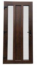 Drzwi zewnętrzne wejściowe (kolor: orzech, strona: prawa, szerokość: 100 cm) 26271901