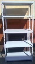 Regał metalowy, 5 półek (wymiary: 2500x900x700 mm, obciążenie półki: 150 kg) 77170605