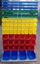 Regał z pojemnikami plastikowymi, 103 pojemniki (wymiary: 2000x1000x400 mm) 77157419
