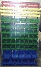 Regał z pojemnikami plastikowymi, 118 pojemników (wymiary: 2000x1200x400 mm) 77157418