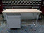 Stół warsztatowy dwustanowiskowy, 1 szafka, 1 szuflada (wymiary: 2000x750x900 mm) 77156850