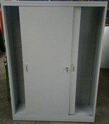 Szafa narzędziowa, drzwi przesuwane, 4 regulowane półki (wymiary: 2000x1300x500 mm) 77157235