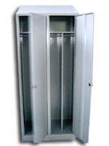 Szafa odzieżowa z przegrodami, 2 drzwi (wymiary: 1800x800x550 mm) 77170704