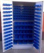 Szafa z plastikowymi pojemnikami, 164 sztuk (wymiary: 2000x970x440 mm) 77157186