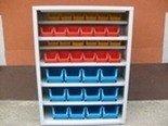 Szafka narzędziowa z pojemnikami plastikowymi, 36 pojemników (wymiary: 1000x750x275 mm) 77157199