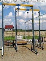 Wciągarka mobilna z wózkiem i wciągnikiem linowym elektrycznym (udźwig: 500 kg, wysokość całkowita: 4000mm, szerokość między podporami: 4800mm, wysokość podnoszenia: 3300mm) 504711711