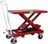 Wózek platformowy nożycowy (udźwig: 250 kg, wymiary platformy: 830x500 mm, wysokość podnoszenia min/max: 330-910 mm) 03028217
