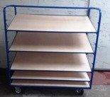 Wózek z pochylonymi półkami, 5 półek (wymiary: 1300x600 mm) 77170829