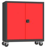 00150616 Szafa narzędziowa na kółkach, 2 drzwi (wymiary: 1000 + koła x1000x500 mm)