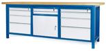 00853669 Stół warsztatowy, 1 drzwi 10 szuflad (wymiary: 2100x900x740 mm)
