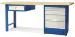 00853693 Stół warsztatowy, 5 szuflad (wymiary: 2100x900x740 mm)