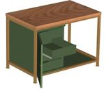 99552448 Stół warsztatowy, 4 szuflady, 1 drzwi (wymiary: 850x1200x750 mm)