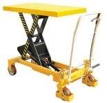 DOSTAWA GRATIS! 00565763 Wózek paletowy stołowy (udźwig: 1000 kg, wymiary platformy: 1016x510 mm, wysokość podnoszenia min/max: 380-990 mm)