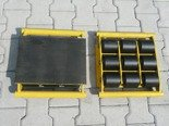 DOSTAWA GRATIS! 12235598 Wózek stały 9 rolkowy, rolki: 9x stalowe (nośność: 18 T)