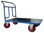 DOSTAWA GRATIS! 13340588 Wózek platformowy ręczny jednoburtowy (koła: pneumatyczne 225 mm, nośność: 250 kg, wymiary: 1200x700 mm)
