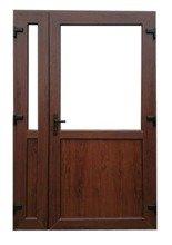 DOSTAWA GRATIS! 26269179 Drzwi zewnętrzne sklepowe (kolor: orzech, strona: lewa, szerokość: 140 cm)