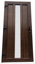 DOSTAWA GRATIS! 26271893 Drzwi zewnętrzne wejściowe (kolor: orzech, strona: prawa, szerokość: 100 cm)