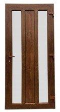 DOSTAWA GRATIS! 26271900 Drzwi zewnętrzne wejściowe (kolor: złoty dąb, strona: lewa, szerokość: 100 cm)