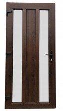 DOSTAWA GRATIS! 26271901 Drzwi zewnętrzne wejściowe (kolor: orzech, strona: prawa, szerokość: 100 cm)