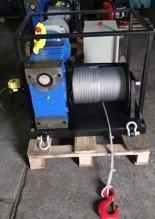 DOSTAWA GRATIS! 28872832 Elektryczna wciągarka linowa z ramką (siła uciągu: 850 kg, długość liny: 30m, moc: 3kW 400V)