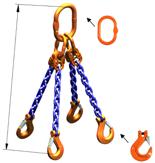 DOSTAWA GRATIS! 33948234 Zawiesie łańcuchowe czterocięgnowe klasy 10 miproSling HCS 30,0/21,2 (długość łańcucha: 1m, udźwig: 21,2-30 T, średnica łańcucha: 19 mm, wymiary ogniwa: 350x190 mm)
