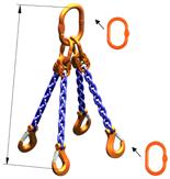 DOSTAWA GRATIS! 33948241 Zawiesie łańcuchowe czterocięgnowe klasy 10 miproSling AS 40,0/28,0 (długość łańcucha: 1m, udźwig: 28-40 T, średnica łańcucha: 22 mm, wymiary ogniwa: 350x190 mm)