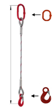 DOSTAWA GRATIS! 33948337 Zawiesie linowe jednocięgnowe miproSling HE 17,00 (długość liny: 1m, udźwig: 17 T, średnica liny: 40 mm, wymiary ogniwa: 275x150 mm)