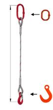 DOSTAWA GRATIS! 33948345 Zawiesie linowe jednocięgnowe miproSling FW 21,00 (długość liny: 1m, udźwig: 21 T, średnica liny: 44 mm, wymiary ogniwa: 275x150 mm)