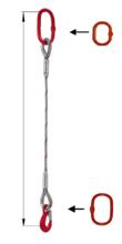 DOSTAWA GRATIS! 33948355 Zawiesie linowe jednocięgnowe miproSling T 33,50 (długość liny: 1m, udźwig: 33,5 T, średnica liny: 56 mm, wymiary ogniwa: 350x190 mm)