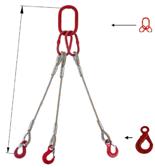 DOSTAWA GRATIS! 33948431 Zawiesie linowe trzycięgnowe miproSling LE 15,0/11,0 (długość liny: 1m, udźwig: 11-15 T, średnica liny: 26 mm, wymiary ogniwa: 230x130 mm)