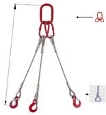 DOSTAWA GRATIS! 33948455 Zawiesie linowe trzycięgnowe miproSling FK 44,0/31,5 (długość liny: 1m, udźwig: 31,5-44 T, średnica liny: 44 mm, wymiary ogniwa: 350x190 mm)